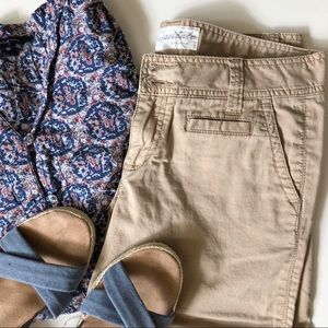 📜 Aero Khaki Crop Shorts/Capris